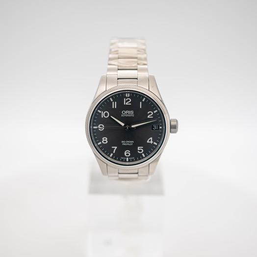 オリス ビッククラウンプロパイロット 自動巻き グレー 文字盤 ステンレス メンズ 腕時計 01 751 7697 4063-07 8 20 19