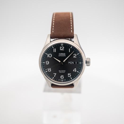 オリス ビッククラウンプロパイロット 自動巻き グレー 文字盤 ステンレス メンズ 腕時計 01 752 7698 4063-07 5 22 05FC