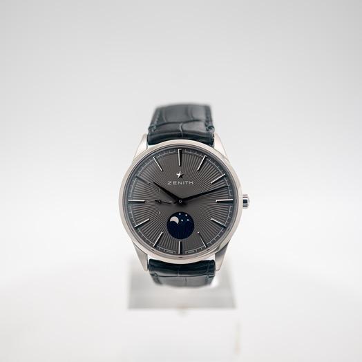 ゼニス エリート 自動巻き グレー 文字盤 グレー メンズ 腕時計 03.3100.692/03.C923