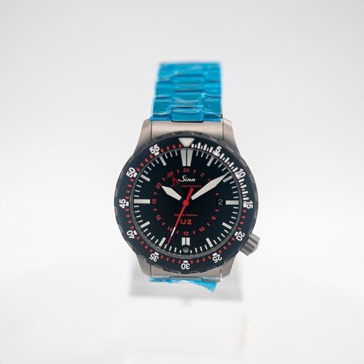 ジン Diving U2 SDR (EZM 5) with TEGIMENT Black Dial Solid Two-Link Stainless Steel Watch 44 mm 1020.050-Solid-2LSS