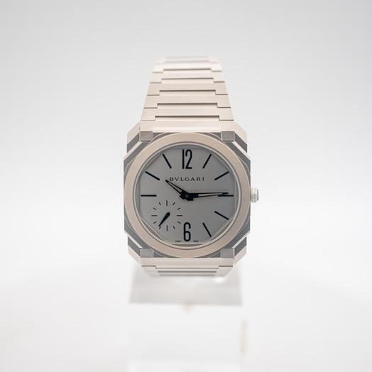 ブルガリ オクト 自動巻き シルバー 文字盤 ステンレス メンズ 腕時計 103011