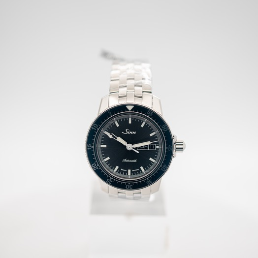 ジン Pilot Watch 104 St Sa I A Anthracite Dial Solid Fine-Link Stainless Steel Watch 41mm 104.014-Solid-FLSS