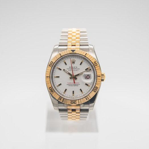 ロレックス Datejust 36mm-Steel and Gold Pink Gold-Turn-O-Graph-Jubilee/White