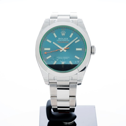 ロレックス ミルガウス Zブルー/ステンレス/オイスター Ø40mm 116400 GV Blue/GV-Z