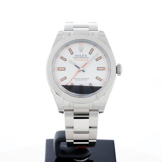 ロレックス ミルガウス ホワイト/ステンレス/オイスター Ø40mm 116400 White