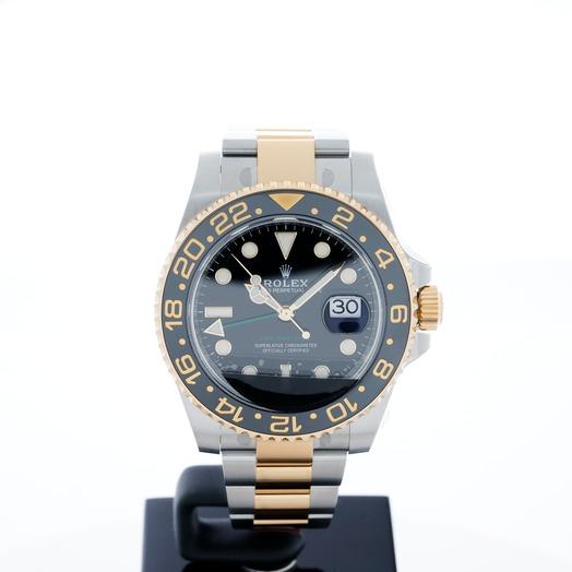 ロレックス GMTマスターⅡ ブラック/イエローゴールド+ステンレス/オイスター Ø40mm 116713 LN