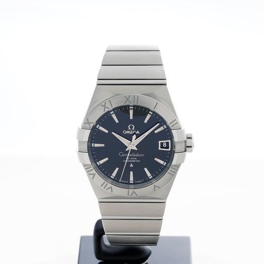 オメガ コンステレーション 自動巻き ブラック 文字盤 ステンレス メンズ 腕時計 123.10.38.21.01.001