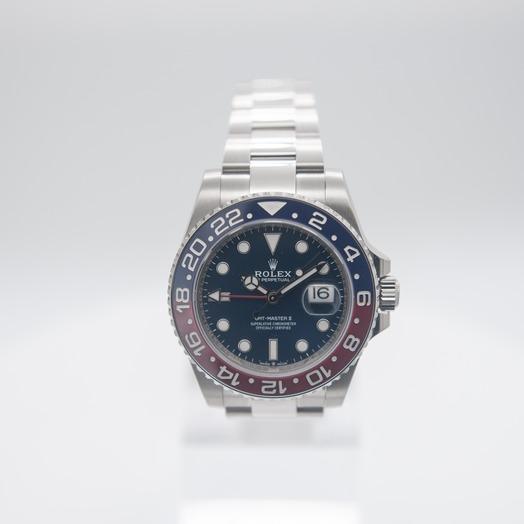 ロレックス GMTマスターII ブルー/ホワイトゴールド/オイスター Ø40mm 126719BLRO