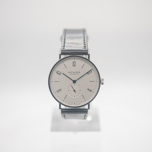 ノモス グラスヒュッテ Tangente 38 Manual-Winding White Silver-plated Dial Men's Watch 165