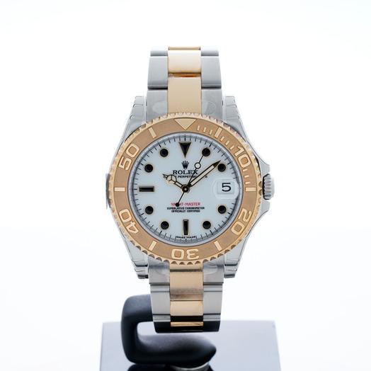 ロレックス ヨットマスター 自動巻き ホワイト 文字盤 ステンレス ボーイズ 腕時計 168623-WSYGO