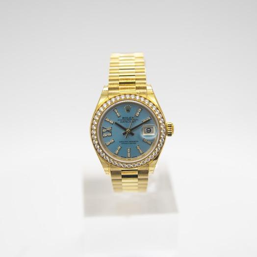 ロレックス レディ デイトジャスト Blue Dial Ladies Watch