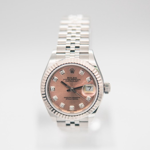 ロレックス Lady Datejust Automatic Pink Dial Diamond Indexes Ladies Jubilee Watch 279174-0003