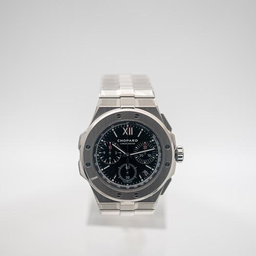 ショパール アルパイン イーグル 自動巻き ブラック 文字盤 ステンレス メンズ 腕時計 298609-3002
