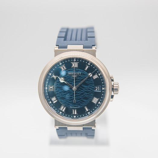 ブレゲ Marine Automatic Blue Dial Men's Watch 5517BB/Y2/5ZU