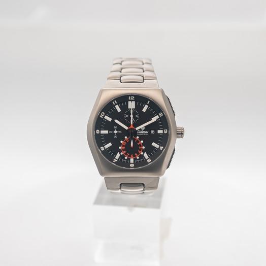 チュティマ  グラスヒュッテ M2 自動巻き ブラック 文字盤 チタニウム メンズ 腕時計 6450-03
