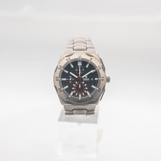 チュティマ  グラスヒュッテ M2 自動巻き ブラック 文字盤 チタニウム メンズ 腕時計 6451-03