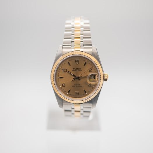 チューダー プリンス デート デー 自動巻き シャンパン 文字盤 ステンレス ボーイズ 腕時計 74033-0001