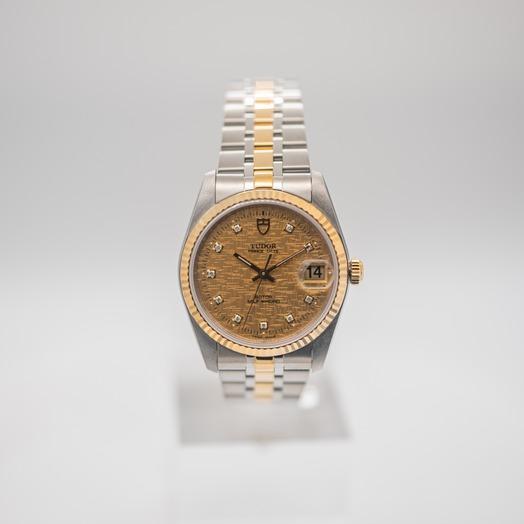 チューダー プリンス デート デー 自動巻き シャンパン 文字盤 グレー メンズ 腕時計 74033-0005