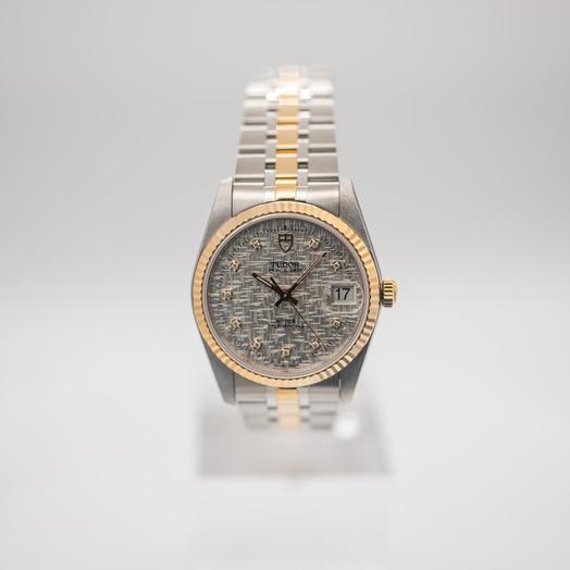 チューダー プリンス デート デー 自動巻き シルバー 文字盤 グレー メンズ 腕時計 74033-0006
