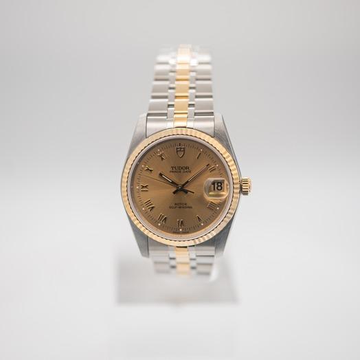 チューダー プリンス デート デー 自動巻き ゴールド 文字盤 グレー メンズ 腕時計 74033-0009