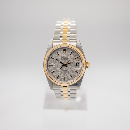 チューダー プリンス デート デー 自動巻き シルバー 文字盤 グレー メンズ 腕時計 74033-0018