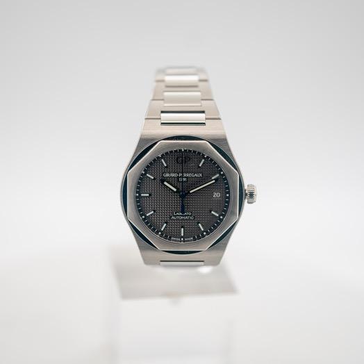 ジラールペルゴ ロレアート 自動巻き グレー 文字盤 ステンレス メンズ 腕時計 81005-11-231-11A