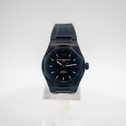 ジラールペルゴ ロレアート 自動巻き ブラック 文字盤 セラミック メンズ 腕時計 81010-32-631-FK6A