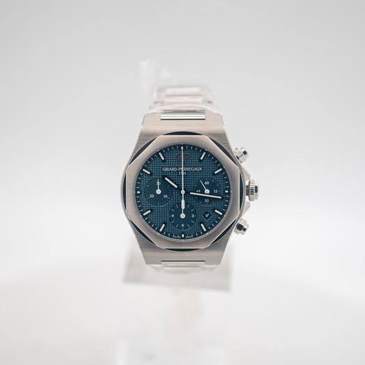 ジラールペルゴ ロレアート 自動巻き ブルー 文字盤 ステンレス メンズ 腕時計 81020-11-431-11A