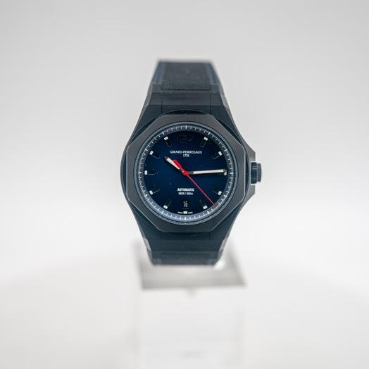 ジラールペルゴ ロレアート 自動巻き ブルー 文字盤 チタニウム メンズ 腕時計 81070-21-491-FH6A