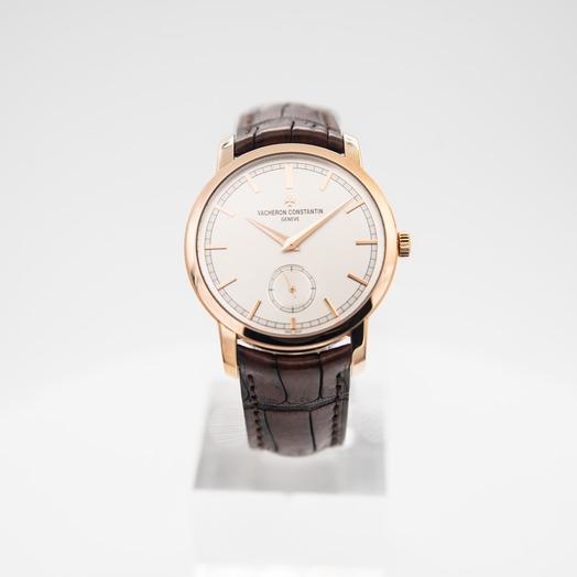 ヴァシュロンコンスタンタン パトリモニー 手巻き シルバー 文字盤 ローズゴールド メンズ 腕時計 82172/000R-9382