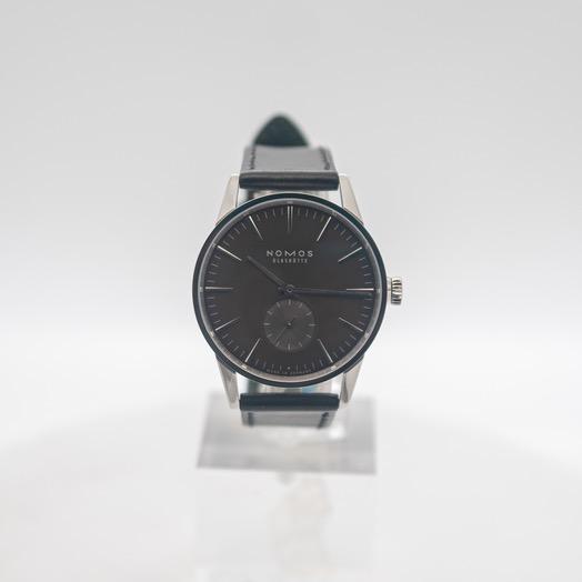 ノモス グラスヒュッテ チューリッヒ 自動巻き ブラウン 文字盤 ステンレス メンズ 腕時計 823