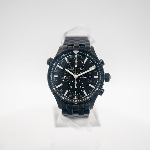 ジン Series 900 Pilot S Black Dial Solid Fine-Link Stainless Steel Watch 44mm 900.020