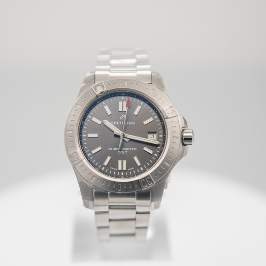 ブライトリング Chronomat Colt Automatic 41 Grey Dial Men's Watch A17313101F1A1
