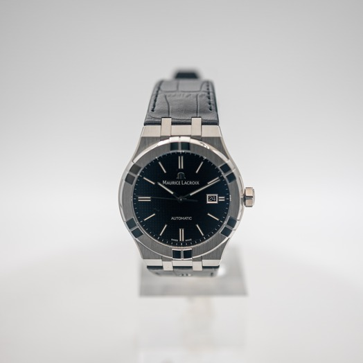モーリス ラクロア アイコン 自動巻き ブラック 文字盤 ステンレス メンズ 腕時計 AI6007-SS001-330-1