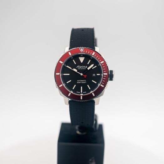 アルピナ シーストロング 自動巻き ブラック 文字盤 ステンレス メンズ 腕時計 AL-525LBBRG4V6