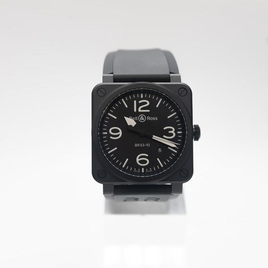 ベル&ロス インストゥルメント 自動巻き ブラック 文字盤 セラミック メンズ 腕時計 BR0392-BL-CE