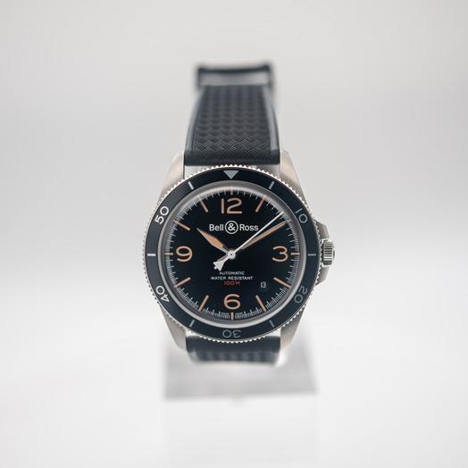 ベル&ロス Vintage Heritage Automatic Black Dial Men's Watch BRV292-HER-ST/SRB