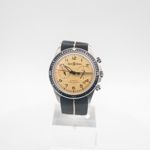 ベル&ロス ヴィンテージ 自動巻き ベージュ 文字盤 ステンレス メンズ 腕時計 BRV294-BEI-ST/SF