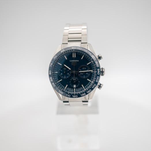タグ ホイヤー タグ  ホイヤー カレラ 自動巻き ブルー 文字盤 ステンレス メンズ 腕時計 CBN2A1A.BA0643