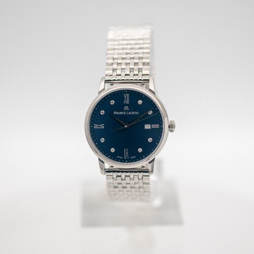 モーリス ラクロア エリロス クォーツ ブルー 文字盤 ステンレス メンズ 腕時計 EL1094-SS002-450-1