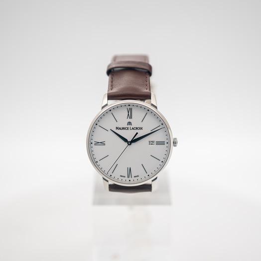 モーリス ラクロア エリロス クォーツ ホワイト 文字盤 グレー メンズ 腕時計 EL1118-SS001-113-1
