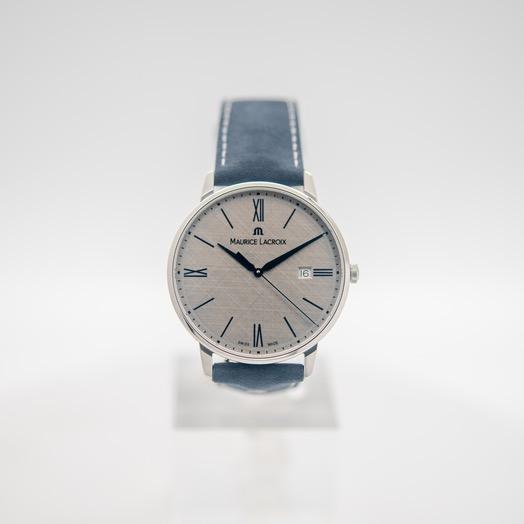 モーリス ラクロア Eliros Date Quartz Light Anthracite Hand Brushed Dial Men's Watch EL1118-SS001-114-1