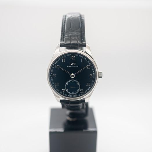 IWC ポルトギーゼ 自動巻き ブルー 文字盤 ステンレス メンズ 腕時計 IW358305