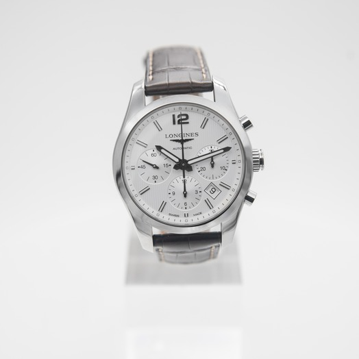 ロンジン Conquest Classic 41mm Chronograph Automatic White Dial Men's Watch L27864763