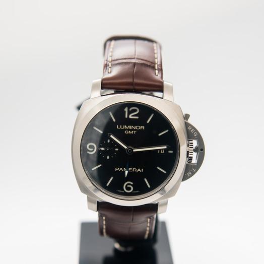 パネライ ルミノール 1950 3デイズ GMT アッチャイオ/ブラック/ステンレス/革/Ø44mm PAM00320
