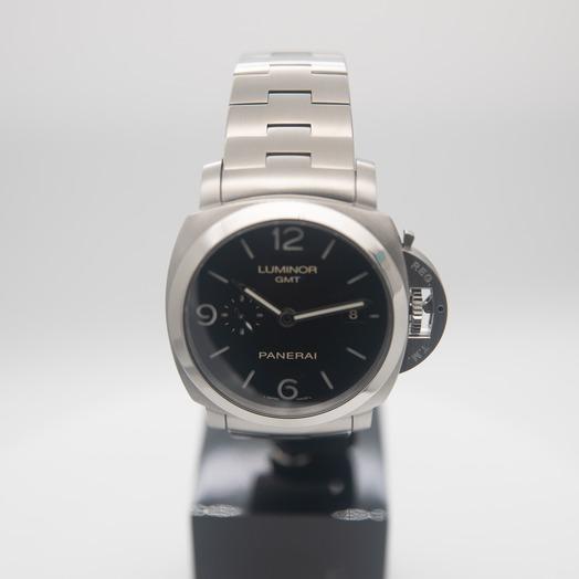 パネライ ルミノール 1950 3デイズ GMT アッチャイオ/ブラック/ステンレス/Ø44mm PAM00329