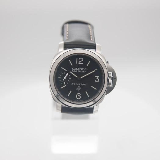 パネライ ルミノール マリーナ ロゴ 3デイズ アッチャイオ/ブラック/ステンレス/革/Ø48mm PAM00776