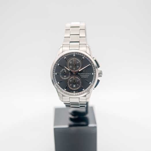 モーリス ラクロア ポントス 自動巻き グレー 文字盤 グレー メンズ 腕時計 PT6388-SS002-331-1