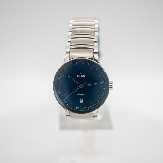 ラドー セントリックス 自動巻き ブルー 文字盤 グレー メンズ 腕時計 R30010202