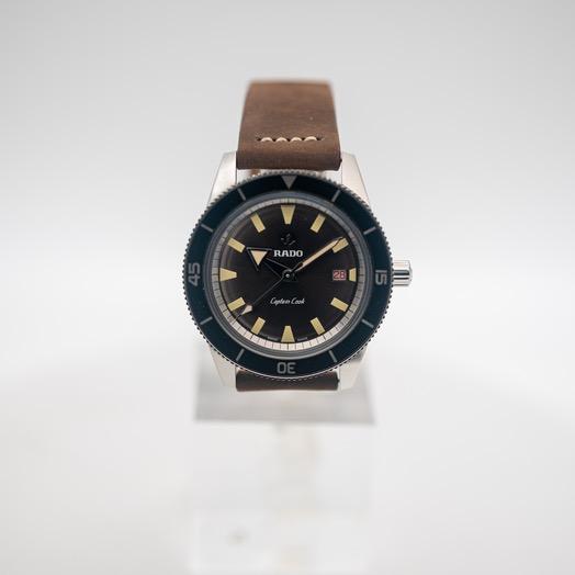 ラドー Captain Cook 自動巻き ブラウン 文字盤 ステンレス メンズ 腕時計 R32505305